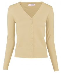 Women Button Down Long Sleeve Basic Soft Knit Cardigan Sweater Khaki