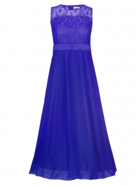 Big Girls Lace Chiffon Bridesmaid Dress Dance Ball Party Maxi Gown Dark Blue