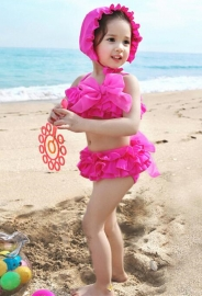 Kid Girl's Two-piece Swimsuits Chlidren Swimwear