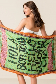 Hola Boujour Beach Towel Blanket