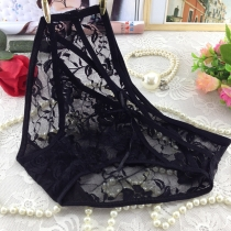 Transparent Lace Underpants for Women Black