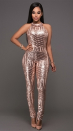 Sexy Sleeveless Sequin Backless Bodycon Party Clubwear Jumpsuit Romper