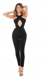 2017 Women's Sexy Lace Up Hollow Out Bodycon Jumpsuit Rompers Pants Clubwear Black