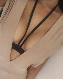 2017 Sexy Women Bandage Harness Bra Elastic Bra Strappy Hollow Out Bra Bustier