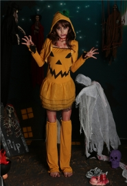 Costumes for Halloween pumpkin girl characters