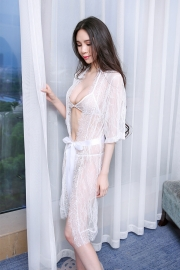Summer sexy transparent lace sleeping skirt suit, see-through gauze sex underwear