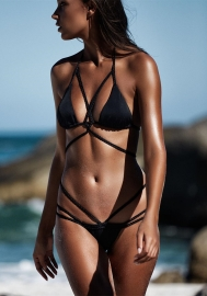 Strappy Crisscross Sexy Two Piece Swimsuit