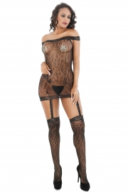 Women Leopard Patterned Sexy Body Stockings