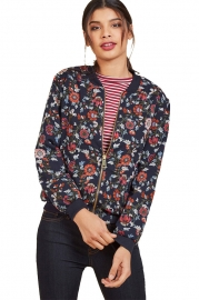 Vintage Long Sleeve  Print Jacket