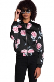 Printing  Rose Jacket coat