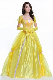 Kiss or Fight Belle Princess Dress Adult Halloween Costume