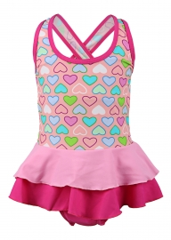 Cute Print Children Swimdress
