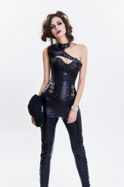 Retro Classic Punk Style Leather Thread Two Sorts Corset