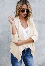 Drapery Open Front Irregular Coat