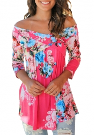 Floral Off Shoulder Crisscross Top