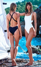 Solid Sexy Crisscross One-piece Swimwear