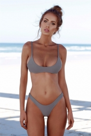 Grey Hot Sell Sexy Triangle Solid Colour Bikini