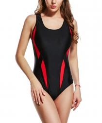 Uhnice Women Atheletic One Piece Racing Training Sports Swimsuit