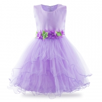 Party Girls Sleeveless Dress Fancy Costume Wedding Tutu Dress