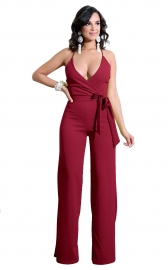 Sexy v-neck hammock strappy back cross jumpsuit