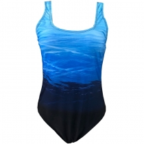 Women Sexy Backless One-piece Swimsuit Plus Gradient Swimwear