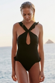2018 one piece cross front hollow out sexy bikini