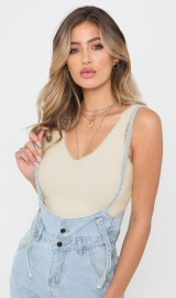Girl sexy v-neck backless sweater vest