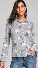 Women Flora printed long sleeve T-shirt