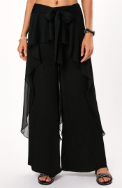 Women Irregular Loose Trouser Black