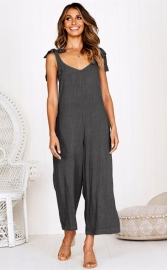New arrival Wide leg jumpsuit Gray