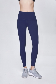 Solid Purplish Blue Women Sport Yoga Pants Leggings
