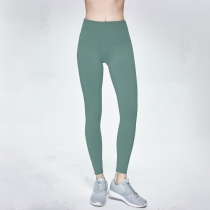 Solid Green Women Sport Yoga Pants Leggings