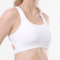 Sports Bra Shock-Proof Gathering Stereotypes Running Fitness Cross-Back Underwear Vest Bra
