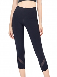 Yoga Pants Woman High Waist Double-Sided Nude Tight-Fitting Sports Cropped Trousers