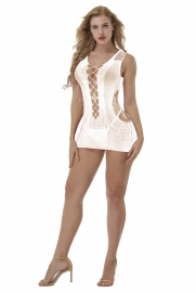 White Sexy Sleeveless Hollow-Out Bodysuit