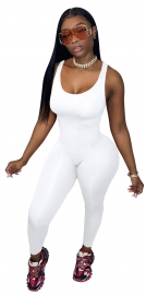 V-Neck Sleeveless Bodycon Jumpsuit