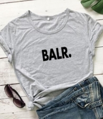 Fashion Women Tops Printed Short Sleeves T-Shirts Letters BALR
