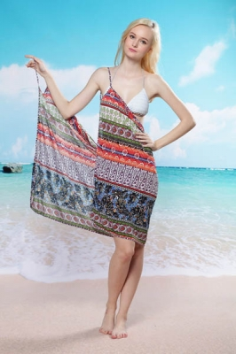 National Pattern Beach Cover-up