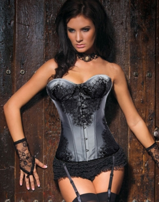 Classical Lace Overlay Corset