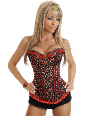 Cherry Pin-Up Burlesque Corset