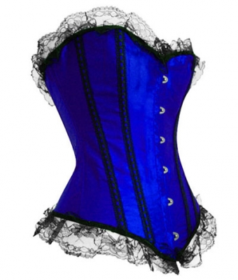 Lace Up Corset Blue