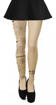 Spider Web White Stocking