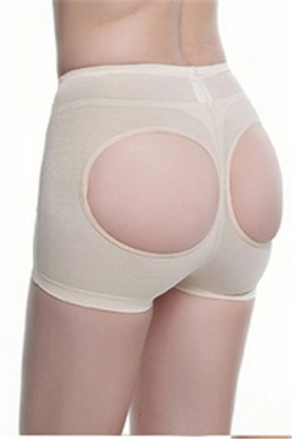 Comfortable Butt Lifter Sexy Cutout Boyshort Apricot