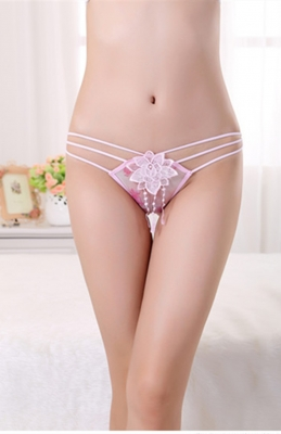 Hot Sexy Women  Boyshorts Bandeau  Floral Panties Pink