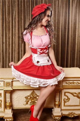 Halloween Cosplay Fairytale Maid Costume