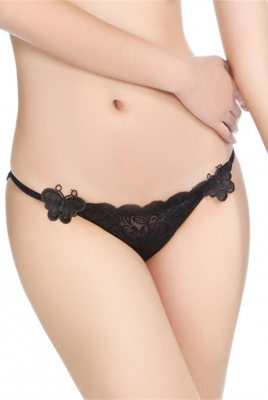 Black Butterfly Lace Panty
