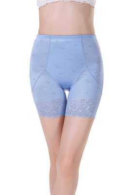 Postpartum Middle Waist Lace Bodyshaper Blue