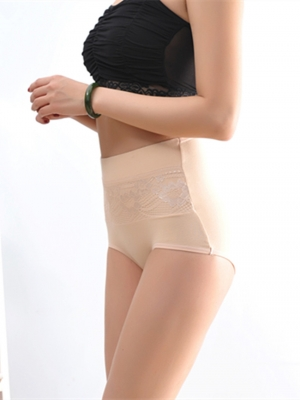 Bodybuilding High Waist Lifter Cotton Shapewear Apricot