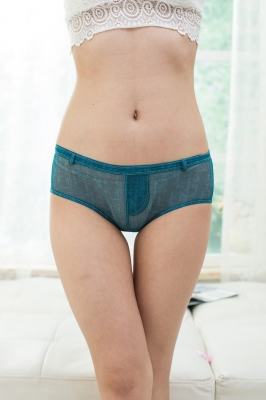 Sensual Women Faux Denim Panties