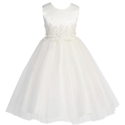 Flower Girl Princess Bridesmaid Wedding Pageant Party Dresses White